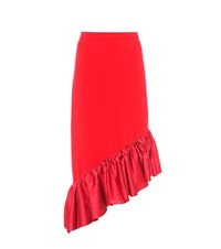 Edit Asymmetric Skirt Red