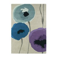 Sanderson Poppies Indigo Purple Rug 170X240cm