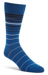 Boss Men's Stripe Socks Bright Blue