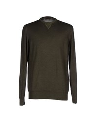 Alpha Massimo Rebecchi Knitwear Jumpers Men Military Green