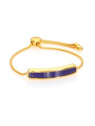 Monica Vinader Baja 18K Gold Plated Vermeil And Lapis Bracelet
