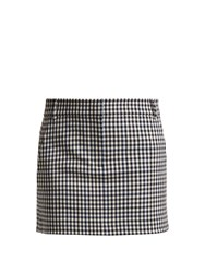 Tibi Gingham Mini Skirt Black White