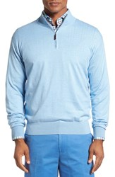Peter Millar Men's Crown Quarter Zip Sweater Tar Heel Blue