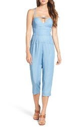 Ali And Jay Women's En Fuego Crop Jumpsuit Chambray