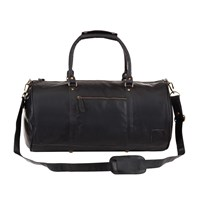 Mahi Leather Weekend Classic Duffle Holdall Overnight Gym Bag In Black