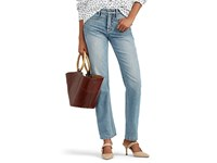 Colovos Mid Rise Straight Jeans Blue