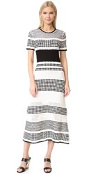 Novis Bennington Short Sleeve Dress Ivory Black