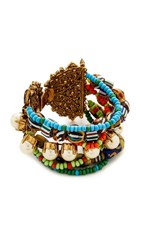 Erickson Beamon Imitation Pearl Safari Bracelet Multi