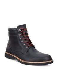 Ecco Ian Leather Boots Black
