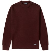 Armor Lux 1901 Fouesnant Mariner Crew Knit Burgundy