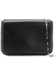 Paco Rabanne Metal Trim Shoulder Bag Women Calf Leather One Size Black