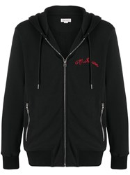 Alexander Mcqueen Embroidered Logo Zip Up Hoodie 60
