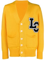 Lc23 Logo Embroidered Cardigan Yellow And Orange