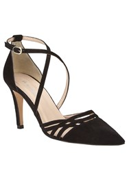 Phase Eight Sabine Leather Court Shoes Black