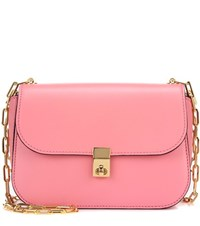 Valentino Garavani Chain Leather Crossbody Bag Pink