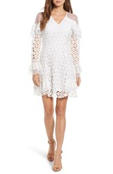 Kas New York Shawna Eyelet Minidress White