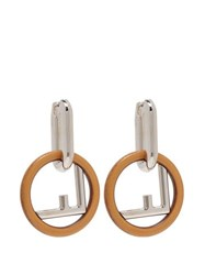 Fendi F Is Fendi Hoop Earrings Brown