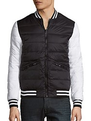 Members Only Ultra Light Varsity Jacket Black