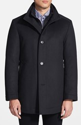 Men's Boss 'Coxtan' Trim Fit Wool Car Coat Black