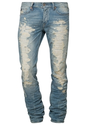 Japan Rags 1800Droit Slim Fit Jeans Blue Blue Denim