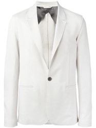 Lanvin One Button Blazer Nude Neutrals