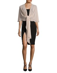 Eliza J Solid Tie Front Wrap Champagne