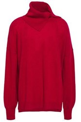 Charli Woman Cyro Cashmere Turtleneck Sweater Crimson