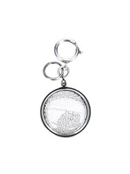 Ann Demeulemeester Beaded Medallion Charm Grey