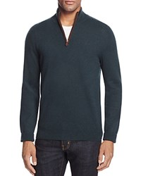 Bloomingdale's The Men's Store At Cashmere Mockneck Sweater Forest Green