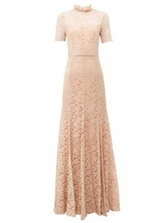 Goat Imelda Cotton Blend Guipure Lace Gown Light Pink