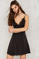 Nasty Gal Bare Minimum Satin Mini Dress