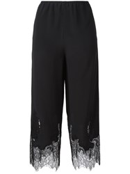 Mcq By Alexander Mcqueen Lace Detail Cropped Trousers Black