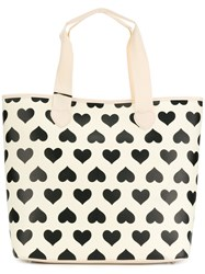 Twin Set Printed Hearts Tote Bag Nude And Neutrals