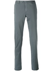Pt01 Tailored Skinny Trousers Men Silk Cotton Spandex Elastane 48 Grey