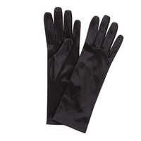 John Lewis Satin Evening Gloves Black