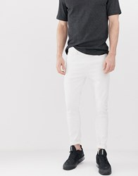 Bershka Super Skinny Jeans In White