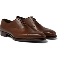 Kingsman George Cleverley Harry Leather Oxford Shoes Brown