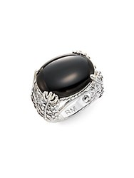 Rebecca Minkoff Runway Fall 15 Feather Stone Ring Silver