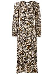 Milly Leopard Print Wrap Dress 60