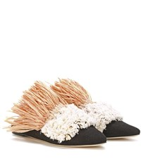 Sanayi 313 Exclusive To Mytheresa.Com Carfalo Canvas And Raffia Slippers Multicoloured
