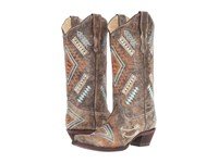 Corral Boots E1037 Black Bone Multicolor Women's Brown