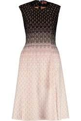 Missoni Metallic Ombre Crochet Knit Dress Pink