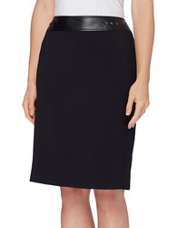 Tahari By Arthur S. Levine Studded Band Stretch Skirt Black
