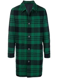 Ami Alexandre Mattiussi Patch Pockets Car Coat Green