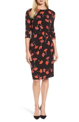 Boss Women's Eseona Print Sheath Dress Rosewood Fantasy