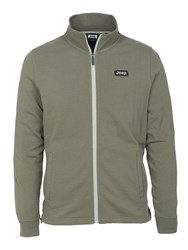 Jeep Mens Full Zip Light Sweatshirt J5s Green