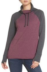 The North Face Funnel Neck Sweatshirt Fig Heather Tnf Grey Heather