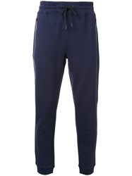 Kent And Curwen 'Terry' Knit Track Pants Blue