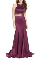 La Femme Women's Two Piece Mermaid Gown