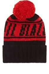 The Elder Statesman X Nba Men's Trail Blazers Cashmere Pom Pom Beanie Black